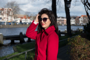 Handmade red coat