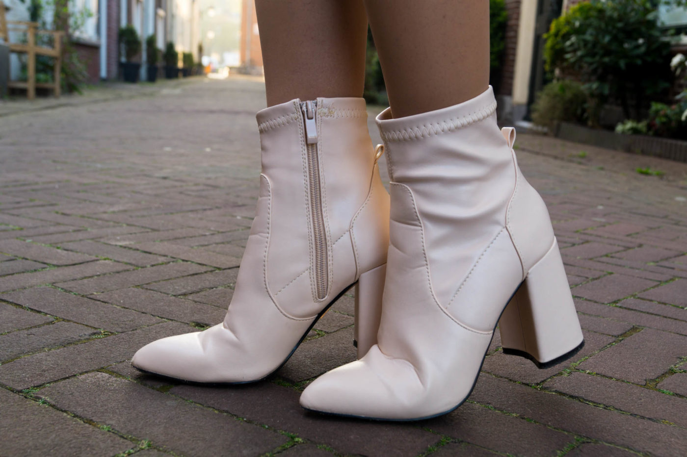 Nude ankle boots - The Colourful Bouquet